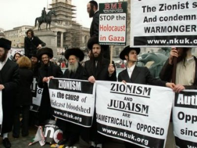 demonstration for jews whom they are anti zionism in london. (© disclose.tv)