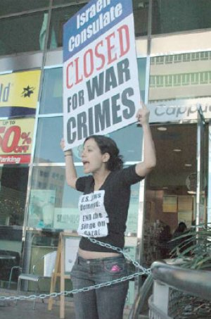 Solidarity Action in Los Angeles (January 16, 2009