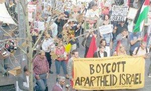 Rally against Israeli Aparthied, Street of Perth, Australia.17 September 2011 (source: bdsmovement.net, www.fopwa.org)