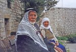 First generation refugees visiting their home in the depopulated village of Lifta, West Jerusalem. 2002 (© BADIL).